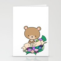 Brown Bear, NO! Stationery Cards