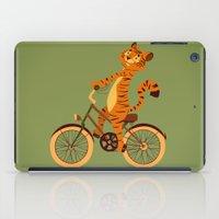Tiger on the bike iPad Case