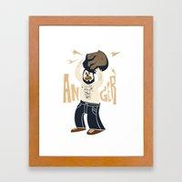Anger (white Hot Version… Framed Art Print