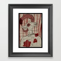 my tongue. Framed Art Print