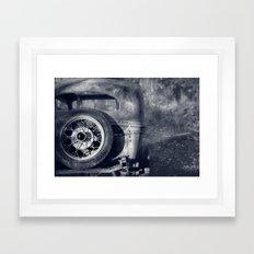 The Old Car Framed Art Print