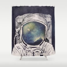 Dreaming Of Space Shower Curtain