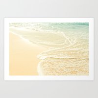 Kapalua Beach Maui Hawaii sparkling golden sand and seafoam Art Print