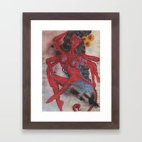 Scorpio: The Feared Revenger (Oct 23 - Nov 21) / Original Gouache On Paper Painting / Illustration Framed Art Print