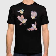 Birds of Paradise Black Mens Fitted Tee SMALL