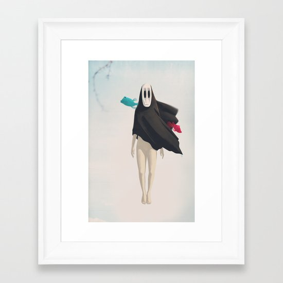 Possibly Yes Framed Art Print