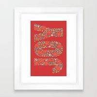 JOY in Red Framed Art Print