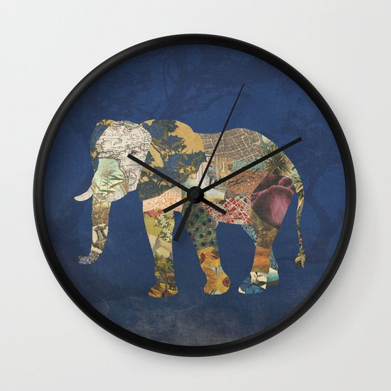 Elephant - The Memories of an Elephant Wall Clock