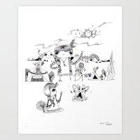 Dancing With Me :) Art Print