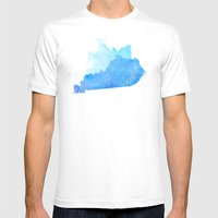 Kentucky Nocturne Mens Fitted Tee White SMALL