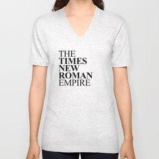 THE TIMES NEW ROMAN EMPIRE Unisex V-Neck