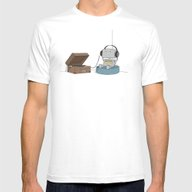 Little Robot  Mens Fitted Tee White SMALL
