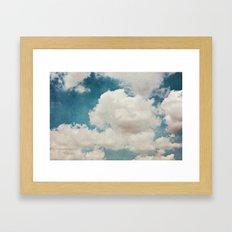 January Clouds Framed Art Print