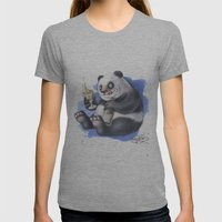 Panda Womens Fitted Tee Athletic Grey SMALL