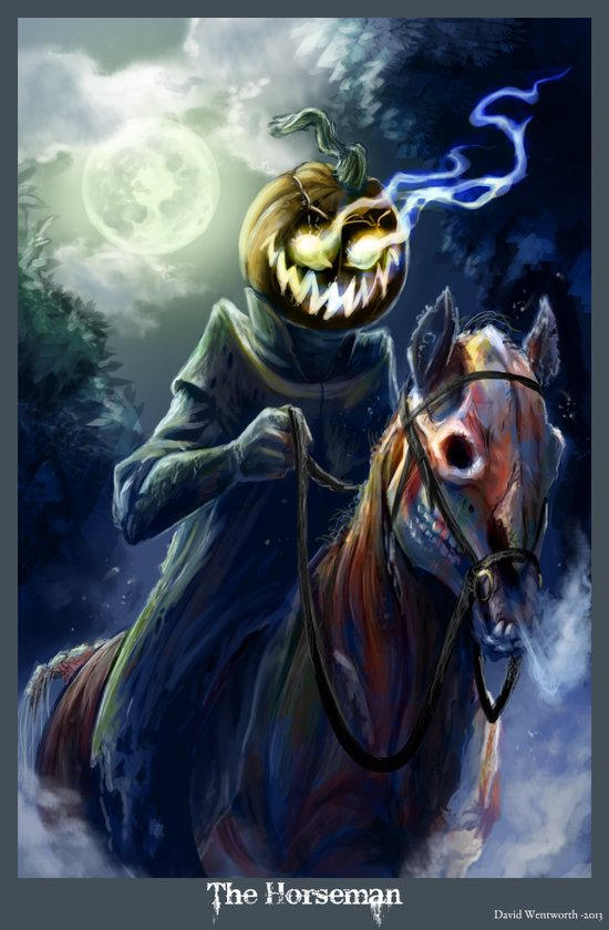 The Horseman Art Print