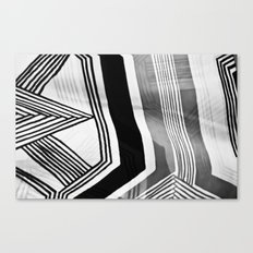 Modern Zebra Abstract Canvas Print