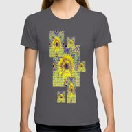 Contemporary Yellow-Purp… Womens Fitted Tee Asphalt X-LARGE