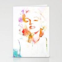 Marilyn Monroe Watercolor Pop Art33 Stationery Cards