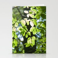 Light in the leaves Stationery Cards
