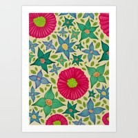 Floral And Leaf Art Print