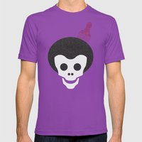 Skull With Afro. Mens Fitted Tee Ultraviolet SMALL