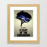 Flight of the Conchords - Hair Helmet Framed Art Print