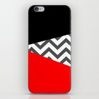 Color Blocked Chevron 10 iPhone & iPod Skin