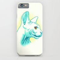 iPhone & iPod Case featuring Sphynx cat #01 by PaperTigress