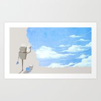 Paint The Walls Blue Art Print
