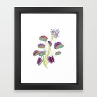 Venus Fly Trap Framed Art Print