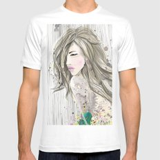 women_colors Mens Fitted Tee SMALL White