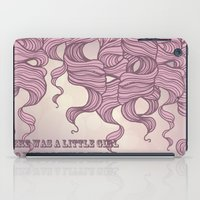 There was a little girl.....// Pink Curls iPad Case
