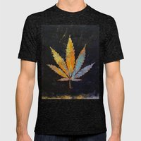 Cannabis Mens Fitted Tee Tri-Black SMALL