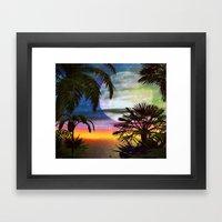 Tropical Nights Framed Art Print