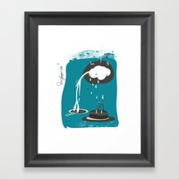 Mood Board Illustration … Framed Art Print