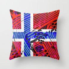 circuit board Norway (Flag) Throw Pillow