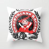 Corinthian's Racing Throw Pillow