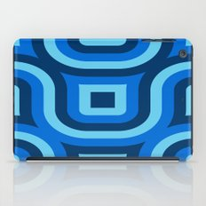Blue Truchet Pattern iPad Case