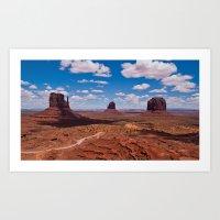 Monuments of Utah Art Print
