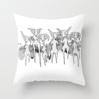 Lurkers Throw Pillow