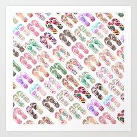 Flip-Flops in Style Art Print