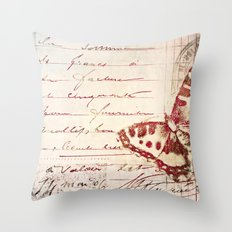 red winged Throw Pillow