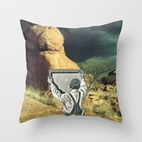 Trying To Change Nature,… Throw Pillow