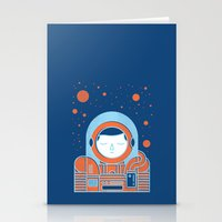 Orange Space Stationery Cards