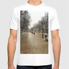 Snowy day White SMALL Mens Fitted Tee