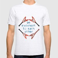 Be Excellent to Each Other Mens Fitted Tee Ash Grey SMALL