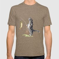 Cat With A Fish Mens Fitted Tee Tri-Coffee SMALL