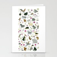 Animal Chart Stationery Cards
