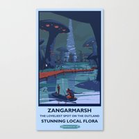 Zangarmarsh Classic Rail Poster Canvas Print