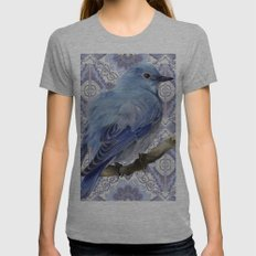 Blue Bird Womens Fitted Tee Athletic Grey SMALL
